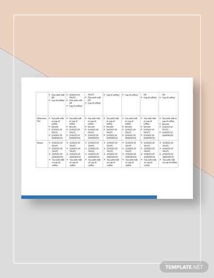 Meal Planning Template Google Docs Meal Plan Template In 2020