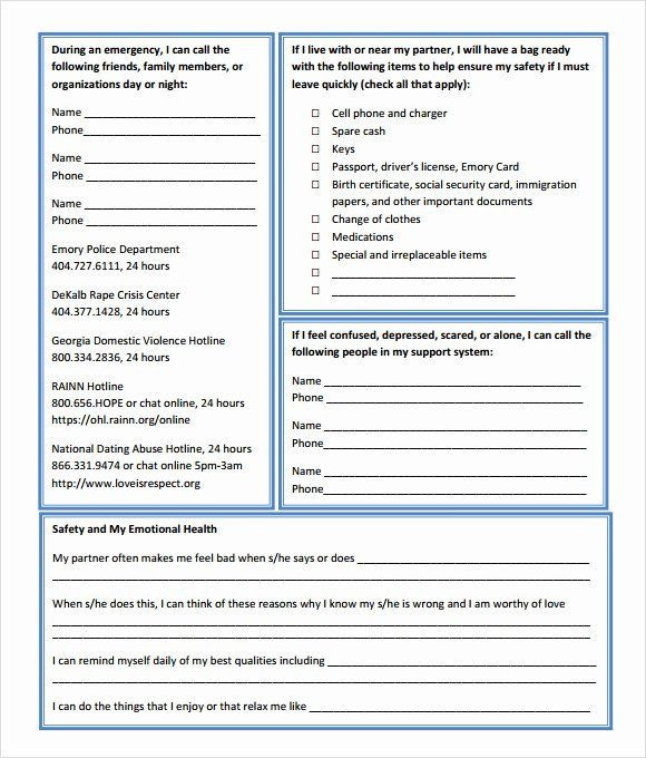 Mental Health Safety Plan Template Pin On Simple Business Plan Templates