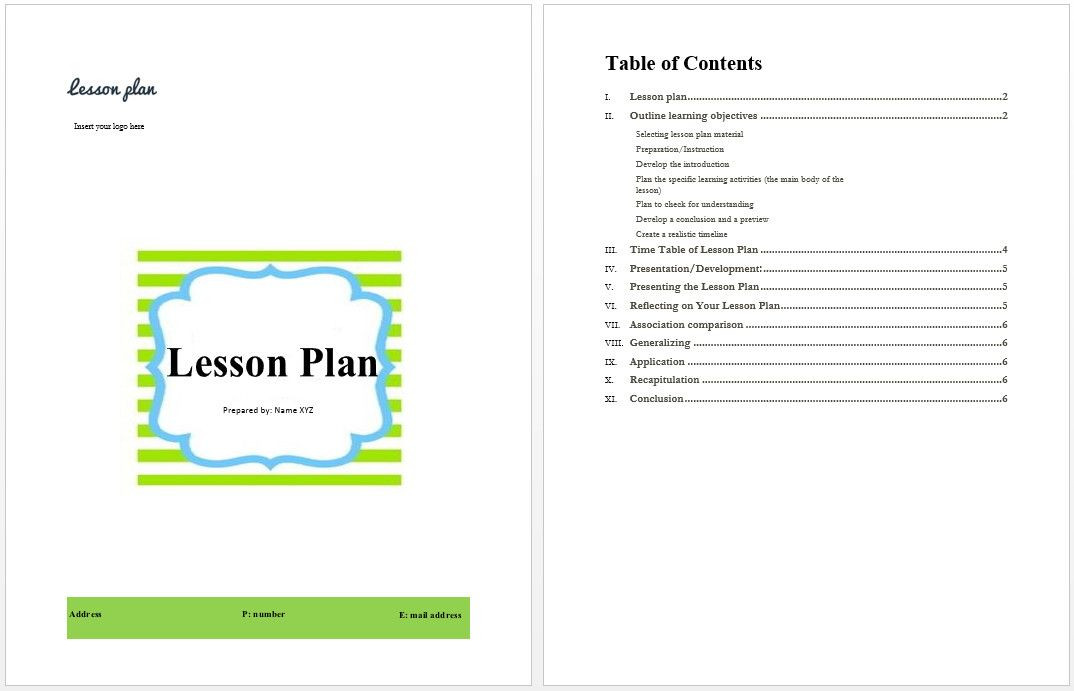 Microsoft Word Lesson Plan Template Microsoft Word Lesson Plan Template Luxury Lesson Plan