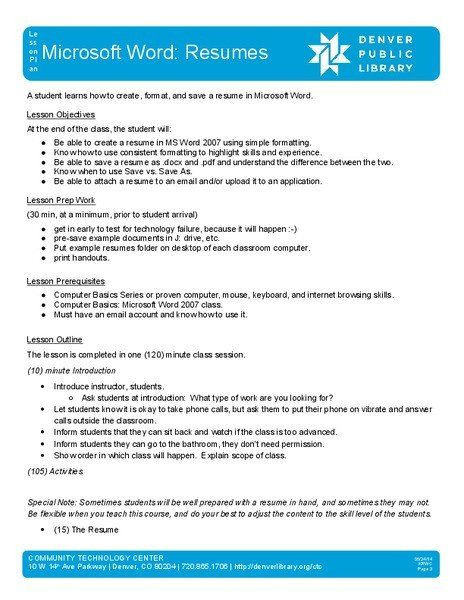 Microsoft Word Lesson Plan Template Ms Word Lesson Plans Elegant Microsoft Word Resumes Lesson