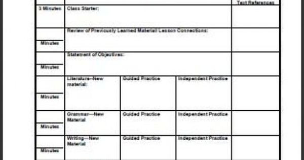 Middle School Lesson Plan Template Pin On Ideas for Secondary Music Educators