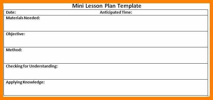 Mini Lesson Plan Template Mini Lesson Plan Template Awesome Lesson Study Lesson Plan