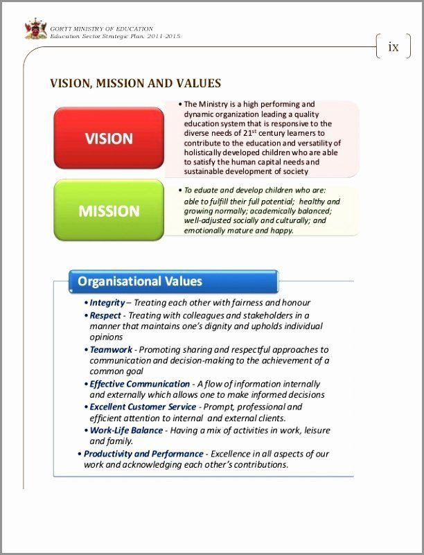 Ministry Strategic Plan Template Ministry Strategic Plan Template Inspirational 8 Mission