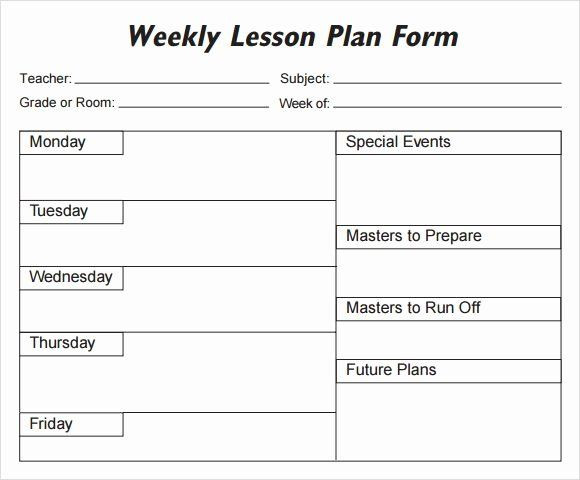 Monthly Lesson Plan Template Free Monthly Lesson Plan Template Inspirational Lesson Plan
