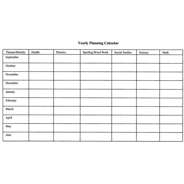 Monthly Lesson Plan Template How to Create Monthly and Yearly Plans for the Classroom