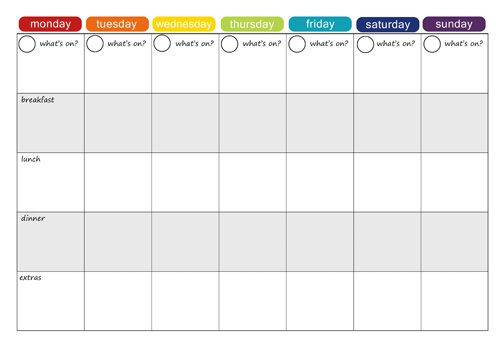 Monthly Meal Planner Template More Free Printable Menu Plans Picklebums