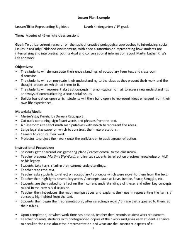 Naeyc Lesson Plan Template Naeyc Lesson Plan Template Lesson Plan Example In 2020