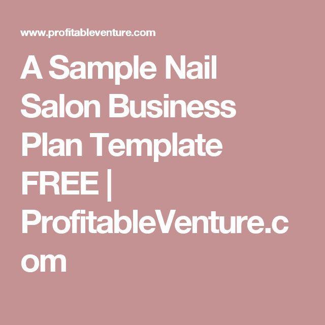 Nail Salon Business Plan Template Hair Salon Business Plan Pdf Best A Sample Nail Salon