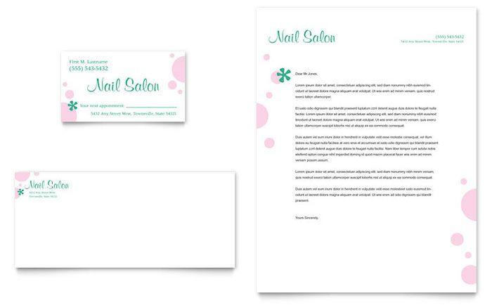Nail Salon Business Plan Template Nail Salon Business Card & Letterhead Template Design