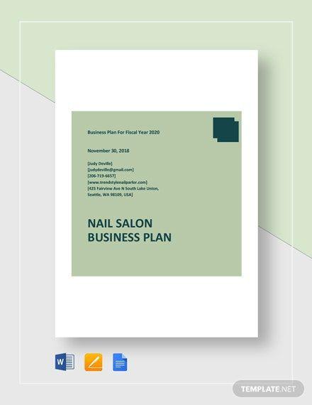 Nail Salon Business Plan Template Nail Salon Business Plan Template Word Doc