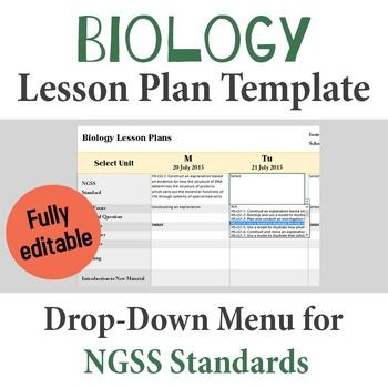 Ngss Lesson Plan Template Biology Lesson Plan Template Drop Down Ngss Standards