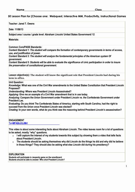 Ngss Lesson Plan Template Ngss Lesson Plan Template New top 6 5e Lesson Plan Templates