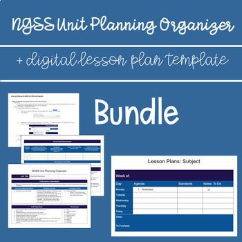 Ngss Lesson Plan Template Ngss Unit Planner Weekly Lesson Plan Template Lesson