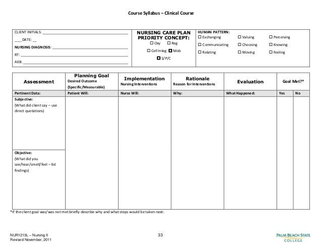Nursing Care Plan Template Pdf Blank Nursing Care Plan Templates Google Search