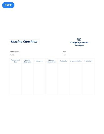 Nursing Care Plan Template Pdf Free Printable Nursing Care Plan Template Pdf