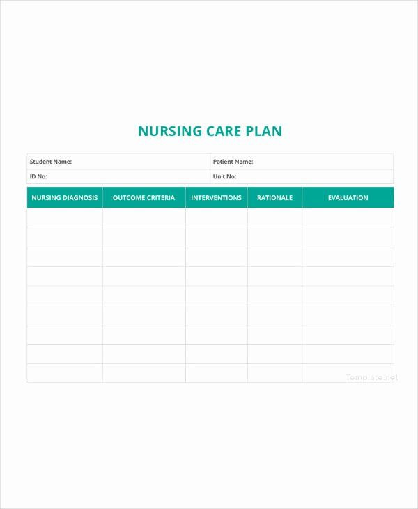Nursing Care Plan Template Pdf Nursing Care Plans Template New 12 Patient Care Plan