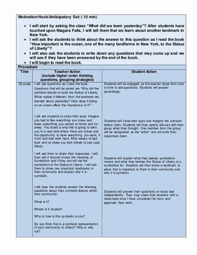 Nys Lesson Plan Template Nys Lesson Plan Template Luxury Edtpa Childhood Lesson Plan