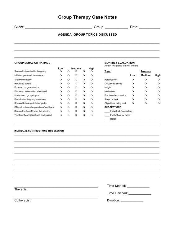 Occupational therapy Treatment Plan Template Counseling Progress Note Template Invitation Templates