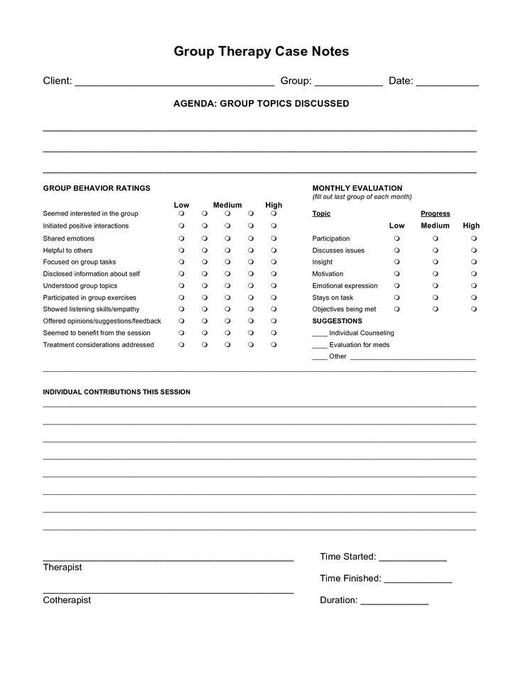 Occupational therapy Treatment Plan Template Psychotherapy Note Template Google Search