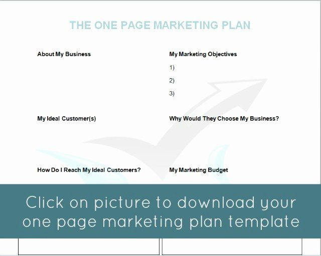 One Page Marketing Plan Template 1 Page Marketing Plan Template Beautiful the E Page