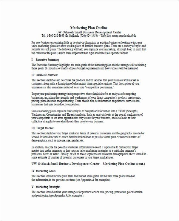 One Page Marketing Plan Template E Page Marketing Plan Inspirational 7 E Page Marketing