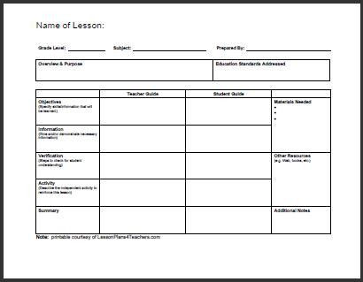 One Subject Lesson Plan Template E Subject Lesson Plan Template Awesome Daily Template 1 In