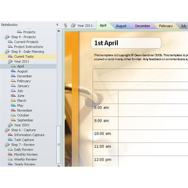 Onenote Lesson Plan Template Choose A Daily Planner for Enote