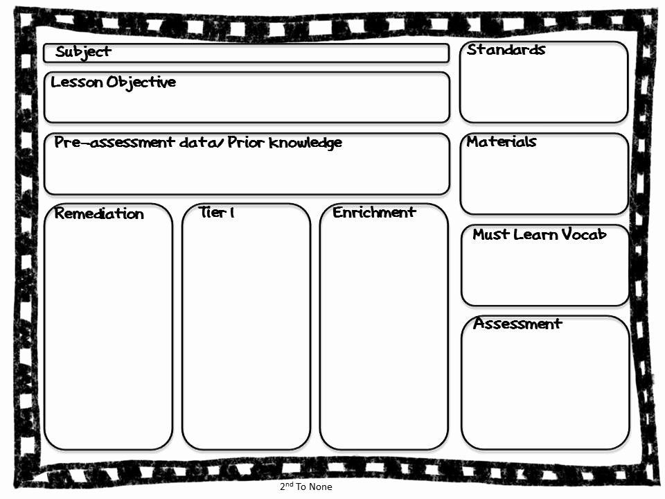 Otes Lesson Plan Template Ccss Lesson Plan Templates Lovely 2nd to None