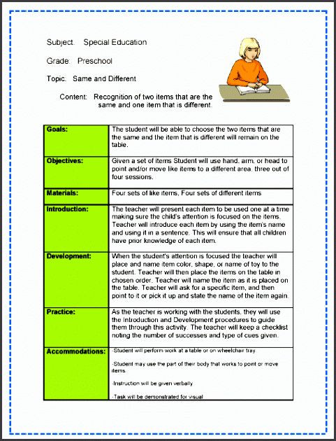 Otes Lesson Plan Template Otes Lesson Plan Template New 9 Lesson Plan Checklist Line