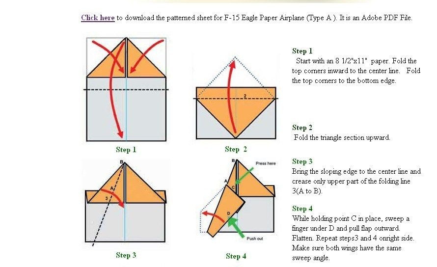 Paper Airplane Template F 15 Paper Airplane