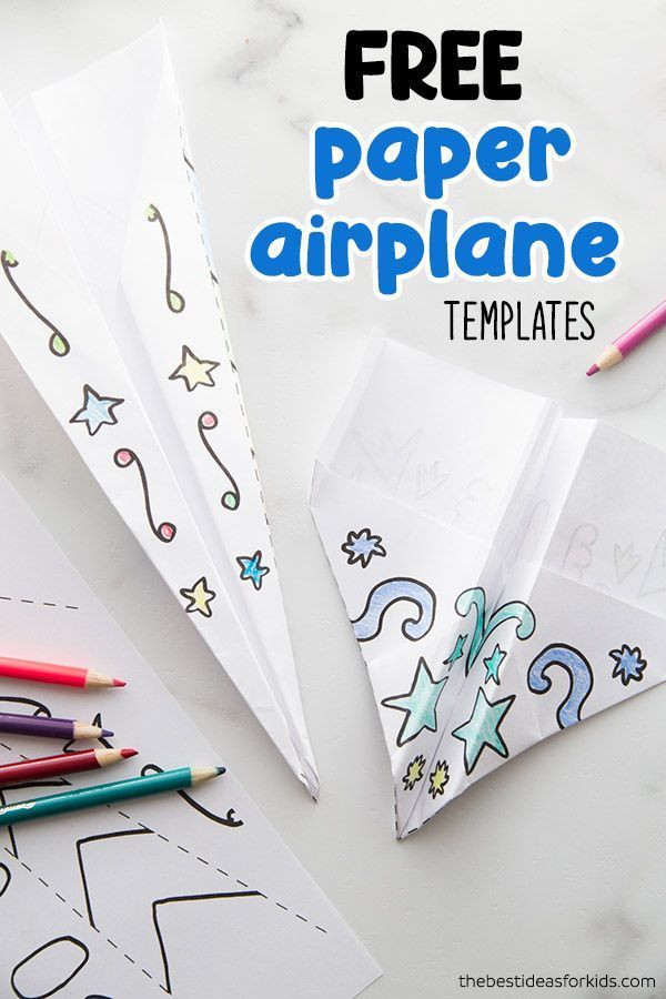 Paper Airplane Template How to Make Paper Airplanes the Best Ideas for Kids