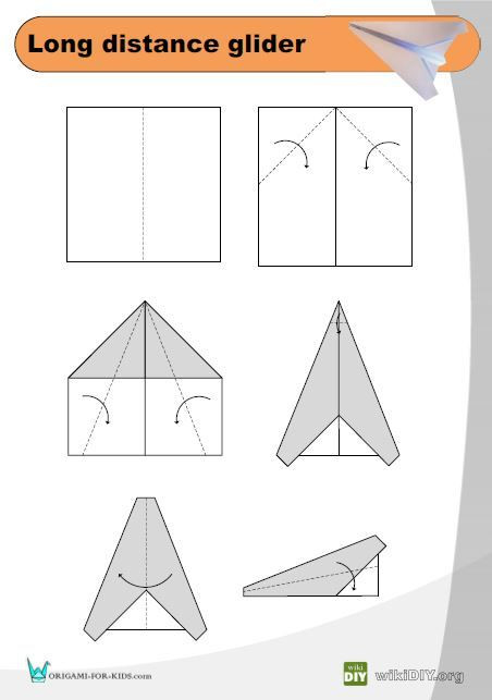 Paper Airplane Template Simple origami Airplane Instructions In 2020