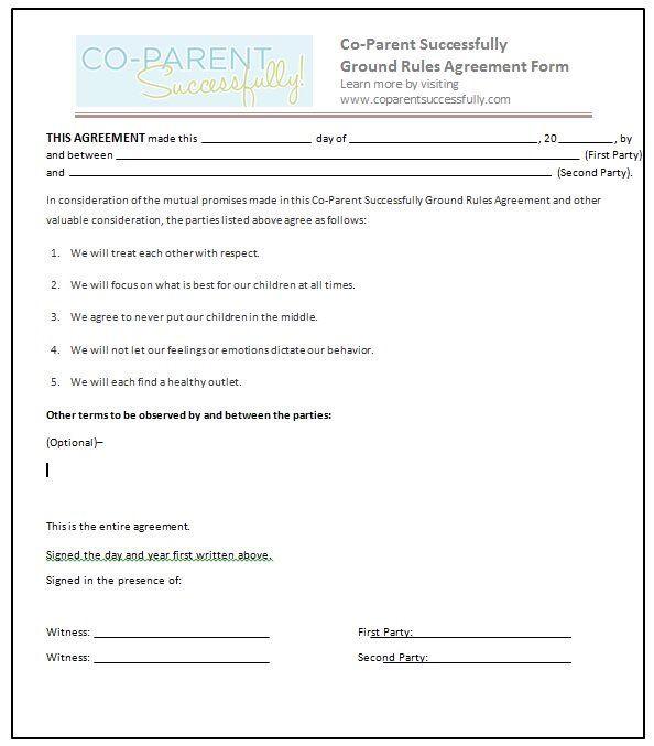 Parenting Plan Template Groundrules1 594—677