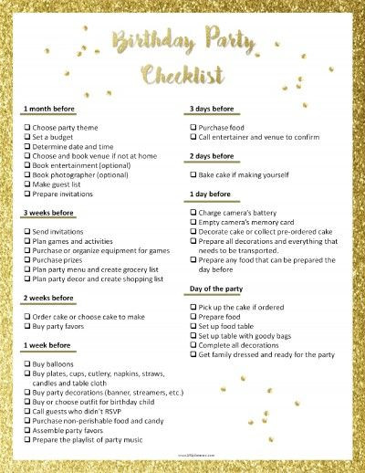 Party Plan Checklist Template Pin On Party Planning Checklist
