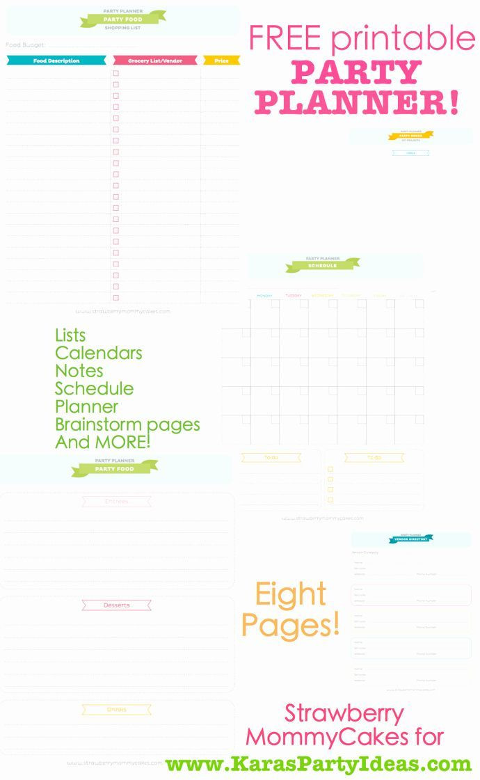 Party Plan Template Party Planning Template Free Awesome Kara S Party Ideas Free
