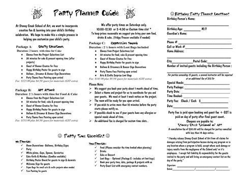 Party Planner Contract Template Party Planner Contract Template Google Search