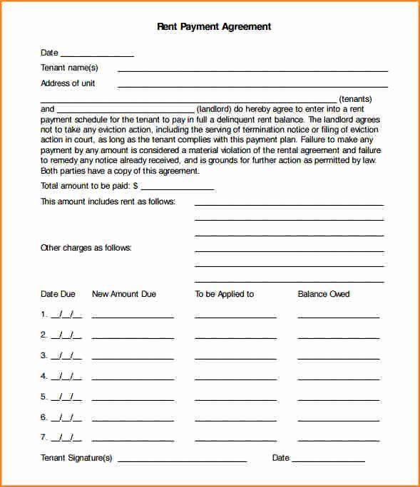 Payment Plan Template Word Installment Payment Agreement Template Fresh 8 Installment