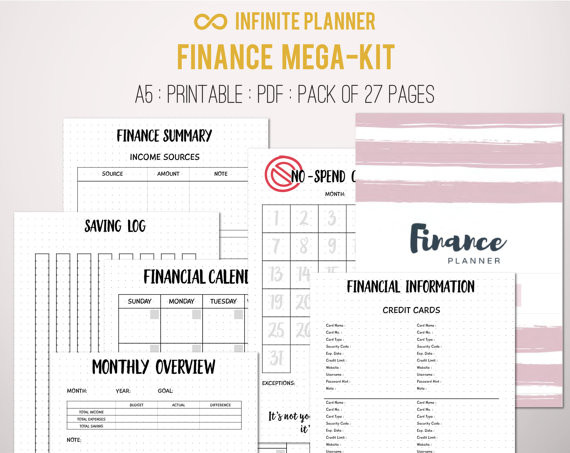 Personal Financial Planner Template This is the Only Kit You Need to Create Customized Finance