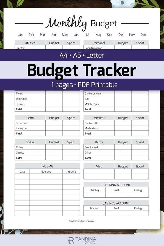 Personal Financial Planner Template with the Monthly Bud Planner Printable You Can Keep Your