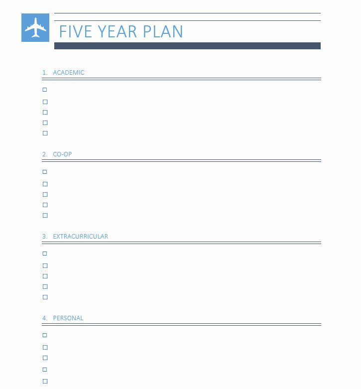 Personal Five Year Plan Template 5 Year Plan Template Elegant Five Year Plan In 2020