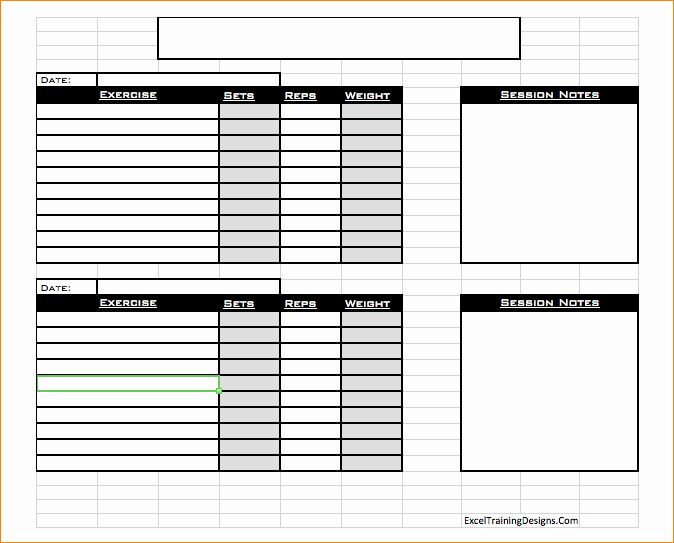Personal Trainer Workout Plan Template Personal Fitness Plan Template Beautiful Free Personal