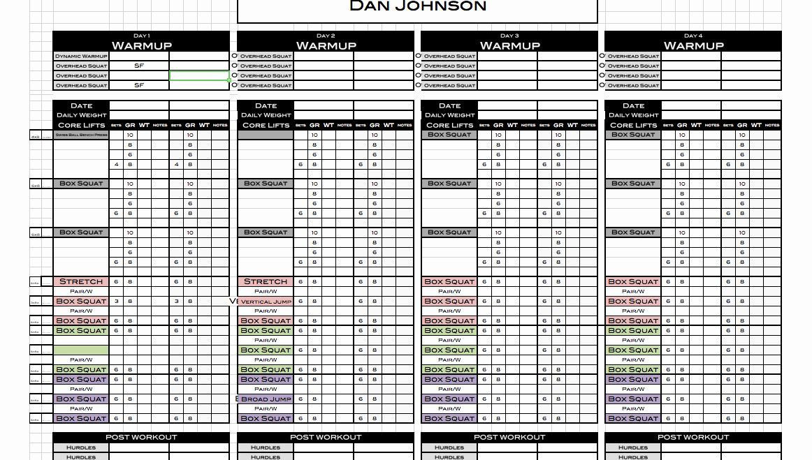 Personal Trainer Workout Plan Template Personal Trainer Workout Plan Template Fresh Excel Personal