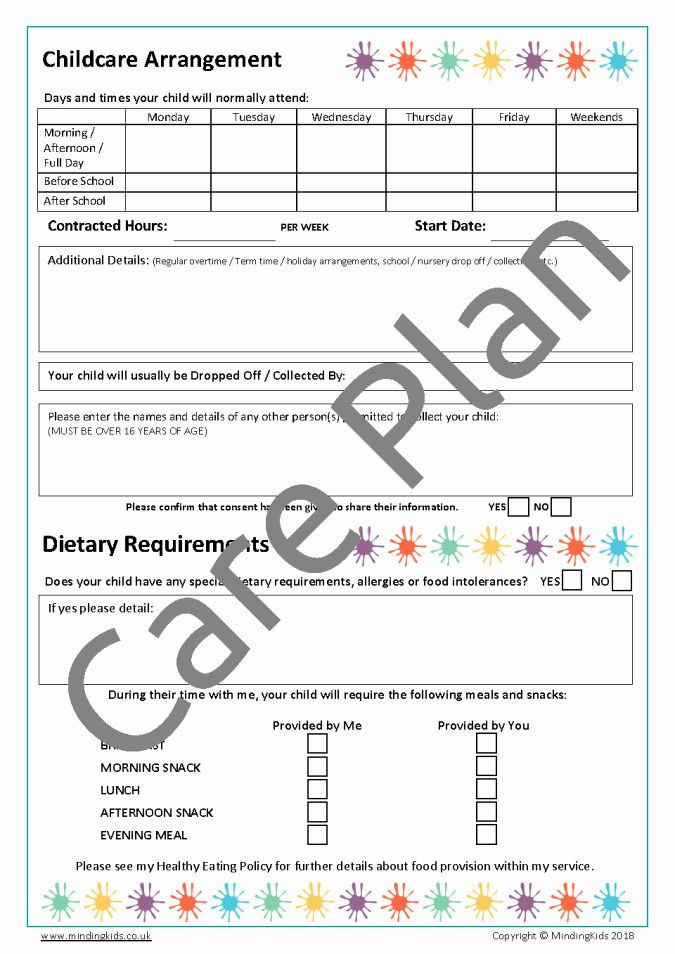 Personal Wellness Plan Template Personal Wellness Plan Template Unique Care Plans & Consents