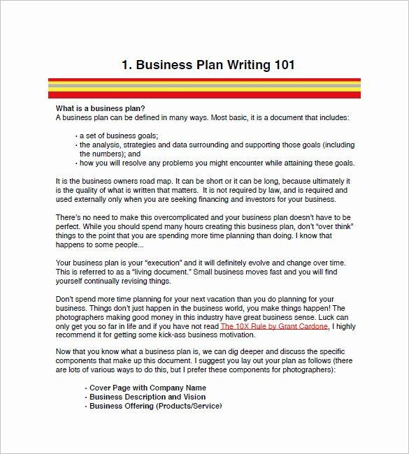 Photography Business Plan Template Graphy Business Plan Template Elegant Graphy Business