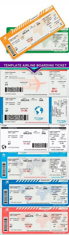 Plane Ticket Template Word 7 Airline Ticket Template Ideas