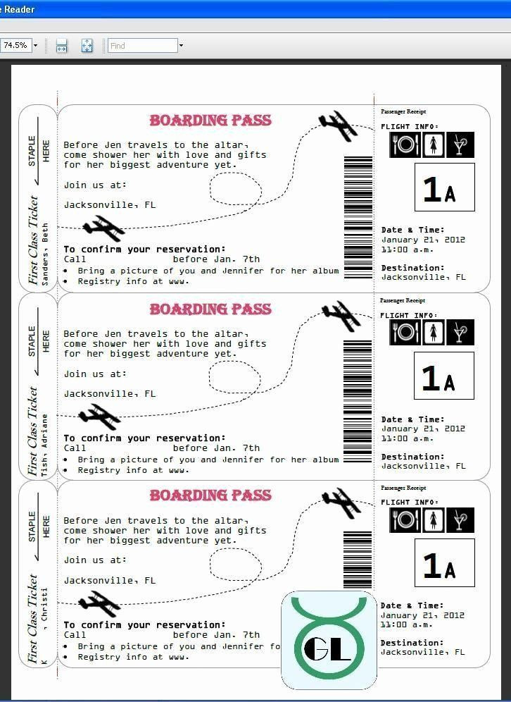 Plane Ticket Template Word Boarding Pass Invitation Template 35 Plane Ticket Wedding