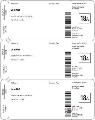 Plane Ticket Template Word Diy Boarding Pass Invitation Save the Date