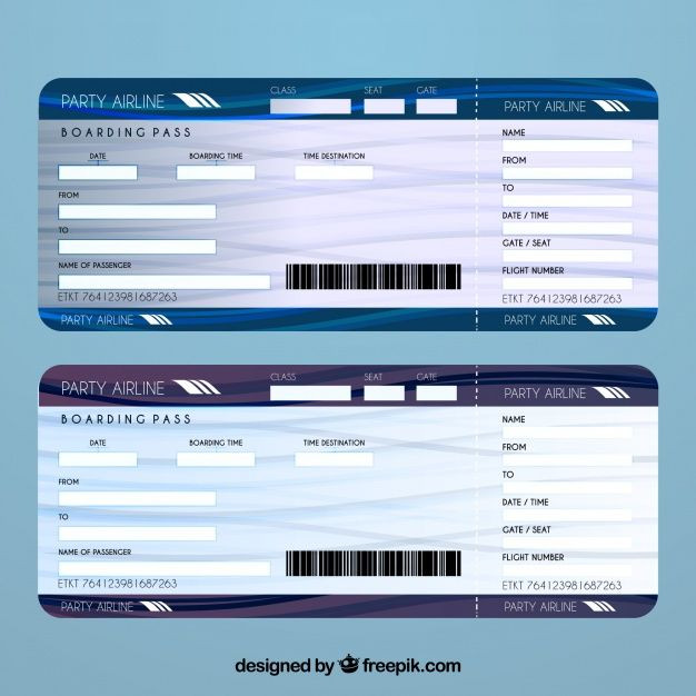 Plane Ticket Template Word Download Airline Ticket Template for Free