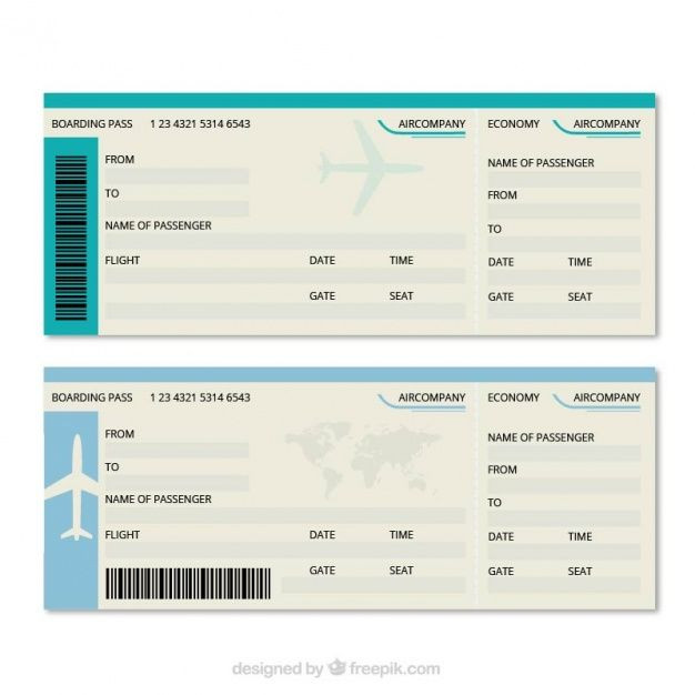 Plane Ticket Template Word Download Great Boarding Pass Template for Free In 2020