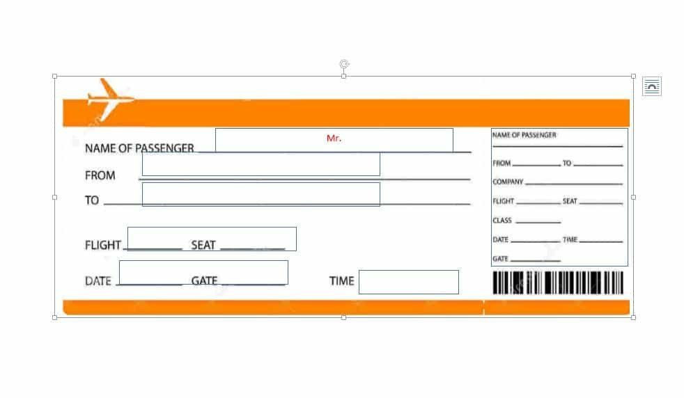 Plane Ticket Template Word Fake Plane Ticket Template Plane Tickets Template Franklin